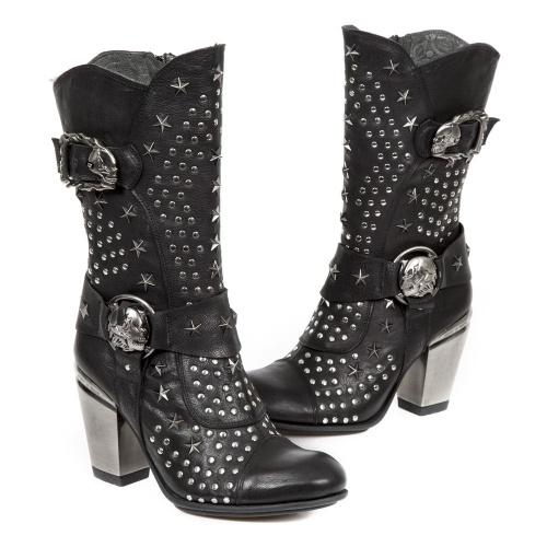 b75ce7f4 High Boots New Rock M.7989-C2 M.7989-C2 BUFALO WILD NEGRO, TEXAS NEGRO  TACON ACERO Texas Urban Rock Shoes | NEWROCK•RU