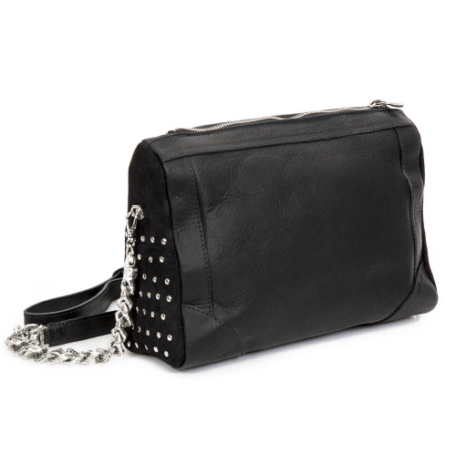 M-BAG062-S1 CRUST NEGRO, VELOUR NEGRO