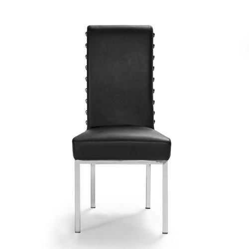 M.NRCHAIR-S1 BLACK LEATHER NEW ROCK CHAIR