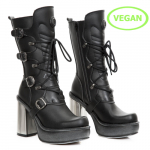 M.9973-VS1 VEGAN NEGRO, PLATAFORMA NEW CIRCLE TACON ACERO