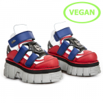 M.285B-V1 VEGAN ROJO, VEGAN BLANCO, VEGAN AZUL, TOWER PERLA LATERAL + E14 NEGRA