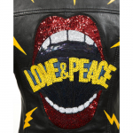 W.NRLWJ004NF-S2 NR READY, WOMEN LEATHER JACKET LOVE AND PEACE